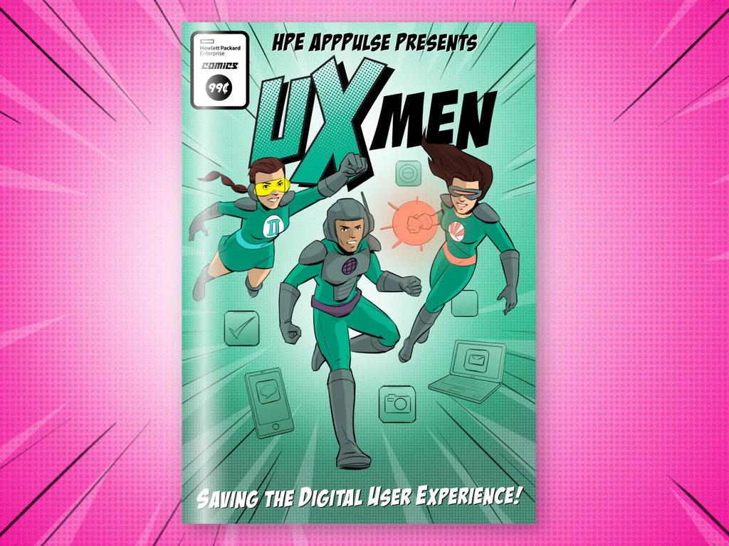 UX MEN Comic for Hewlett Packard Enterprise