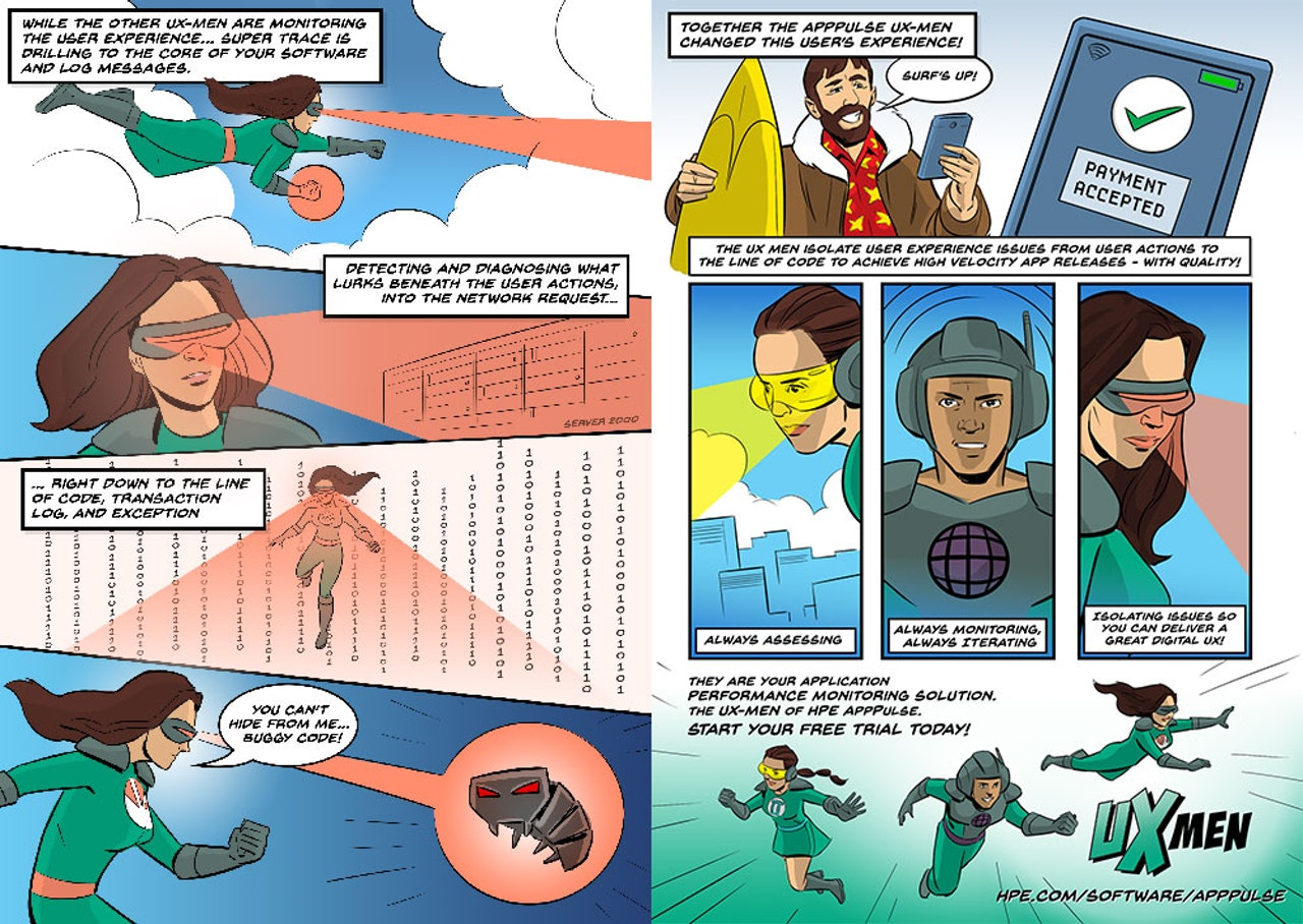 UX MEN Comic for Hewlett Packard Enterprise -