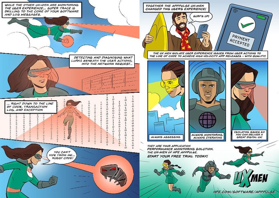 UX MEN Comic for Hewlett Packard Enterprise