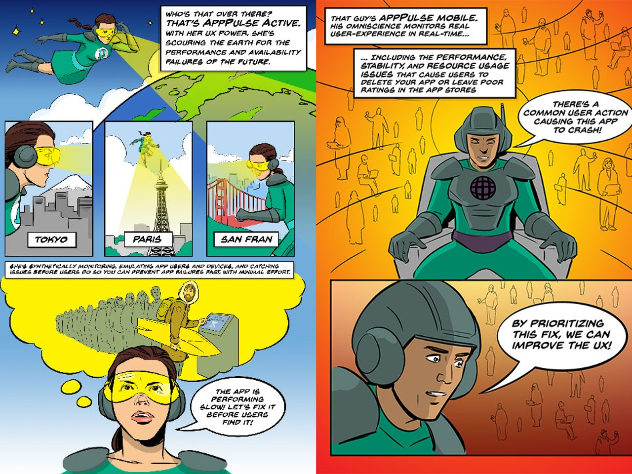 UX MEN Comic for Hewlett Packard Enterprise -