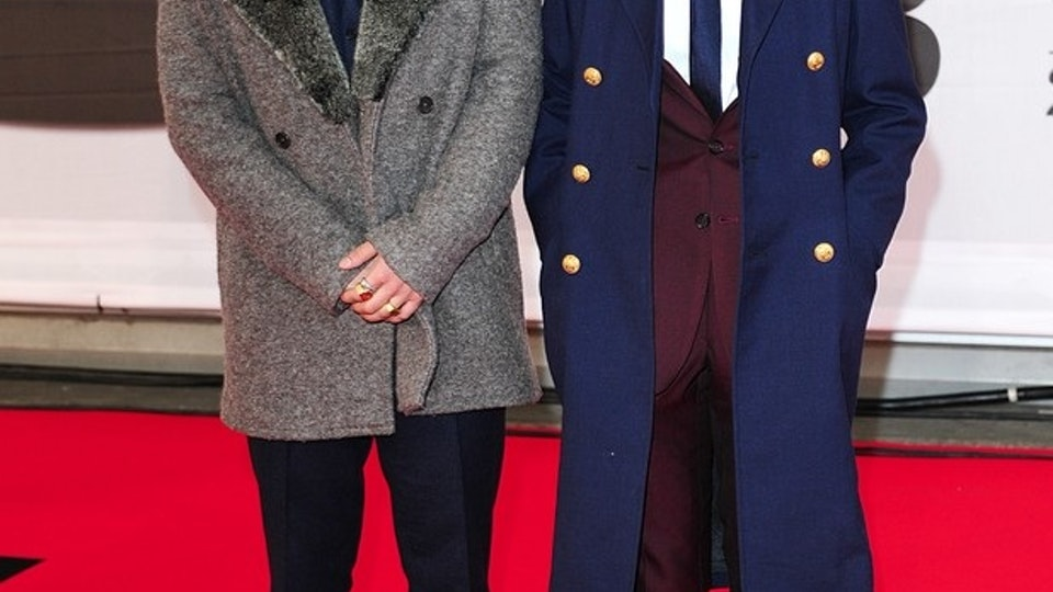 Rizzle Kicks (Island Records) - Brit Awards 2014 Red Carpet
