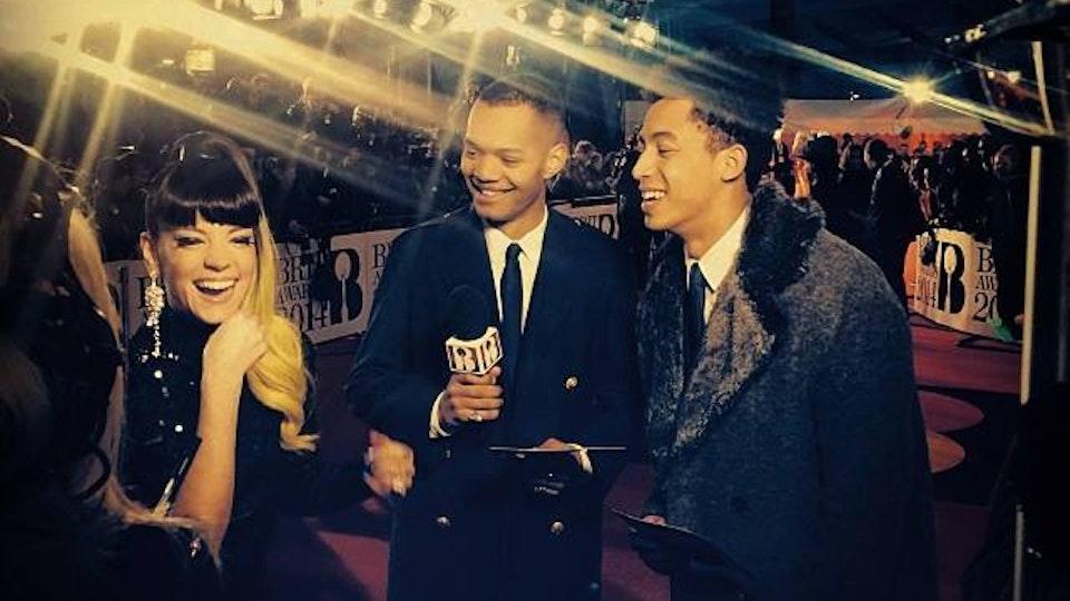 Rizzle Kicks (Island Records) - Brit Awards 2014 ITV2 filming