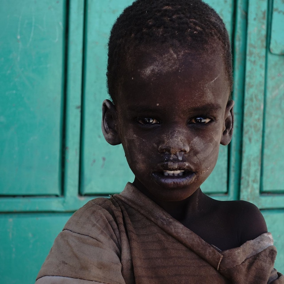 Lake Turkana Wind Power Child in Sarima