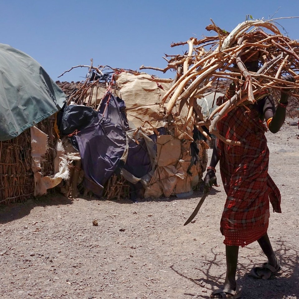 Lake Turkana Wind Power Fire wood collection