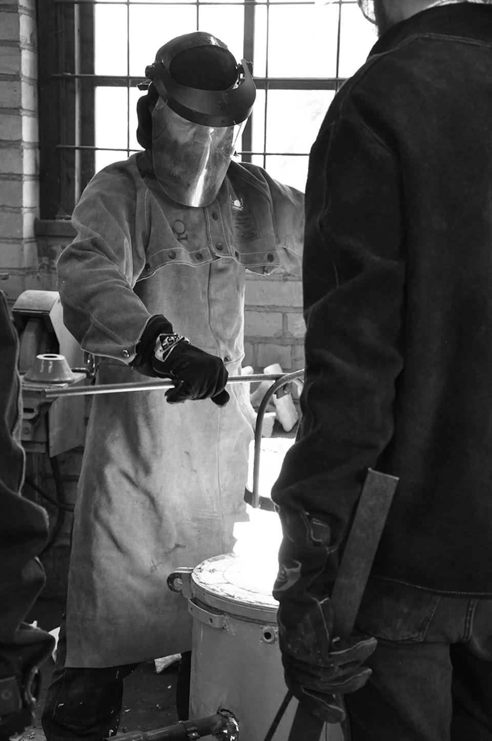 Alchemical Bronze Casting - Crucible lift
