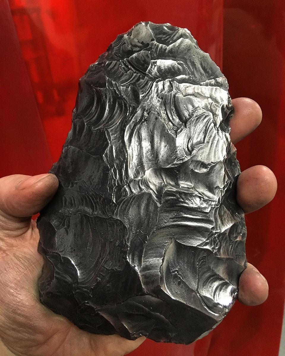 Chrononaut - Neanderthal Hand Axe. Lynford, Norfolk.  Iron.