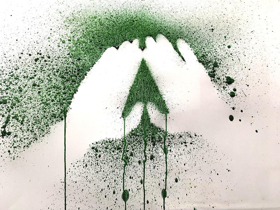 Spitlithics - Spitlithics 2019 Spirulina powder on paper
