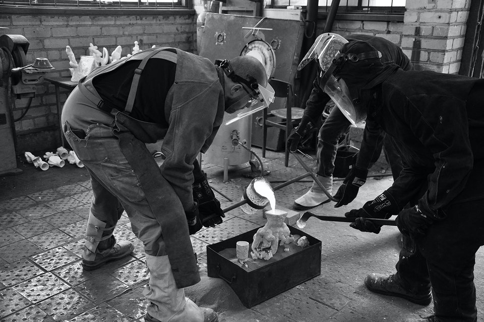 Alchemical Bronze Casting - Pouring
