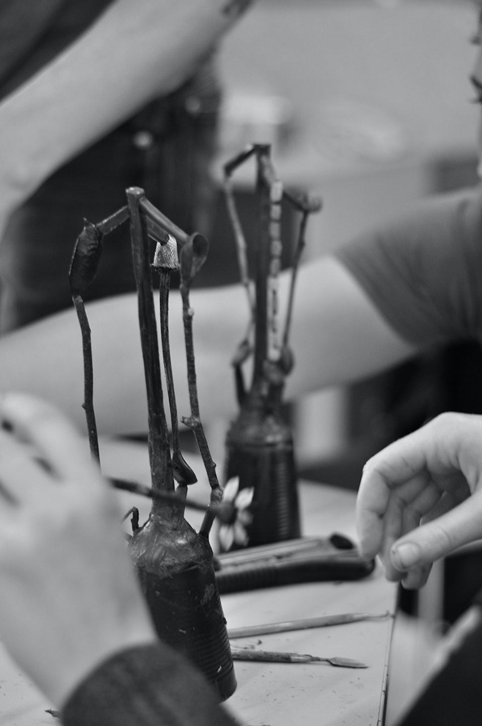 Alchemical Bronze Casting - Organics and wax