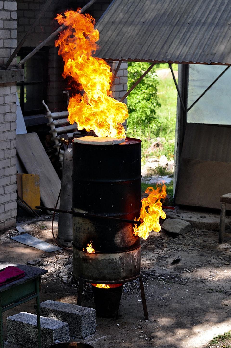 Alchemical Bronze Casting - Wax burnout