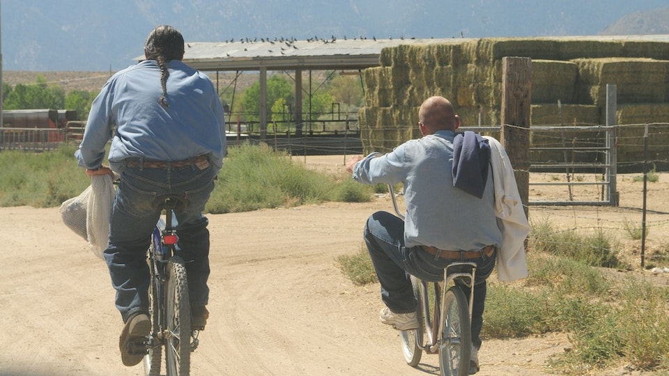 Among Horses and Men, documentary 70 min - back home to  prison after a day of working