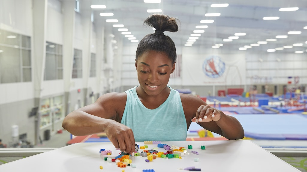 Oscar Cariss directs Simone Biles for Lego 'Rebuild the world' campaign