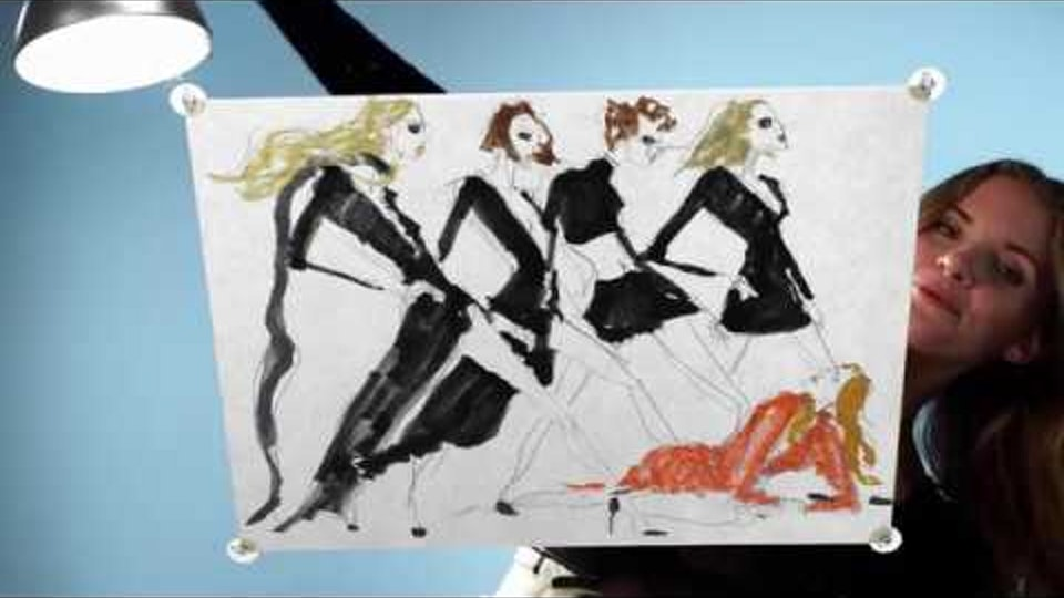 Bed, Bath & Beyond | 'Quick on the Draw' (short doc series) Quick on the Draw: Fashion Illustration with Julie Houts