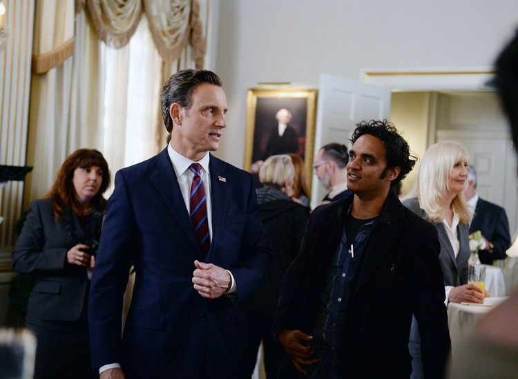 "Scandal - Sharat working with Tony Goldwyn (""Fitzgerald Grant"") on Scandal 512, December 2015."