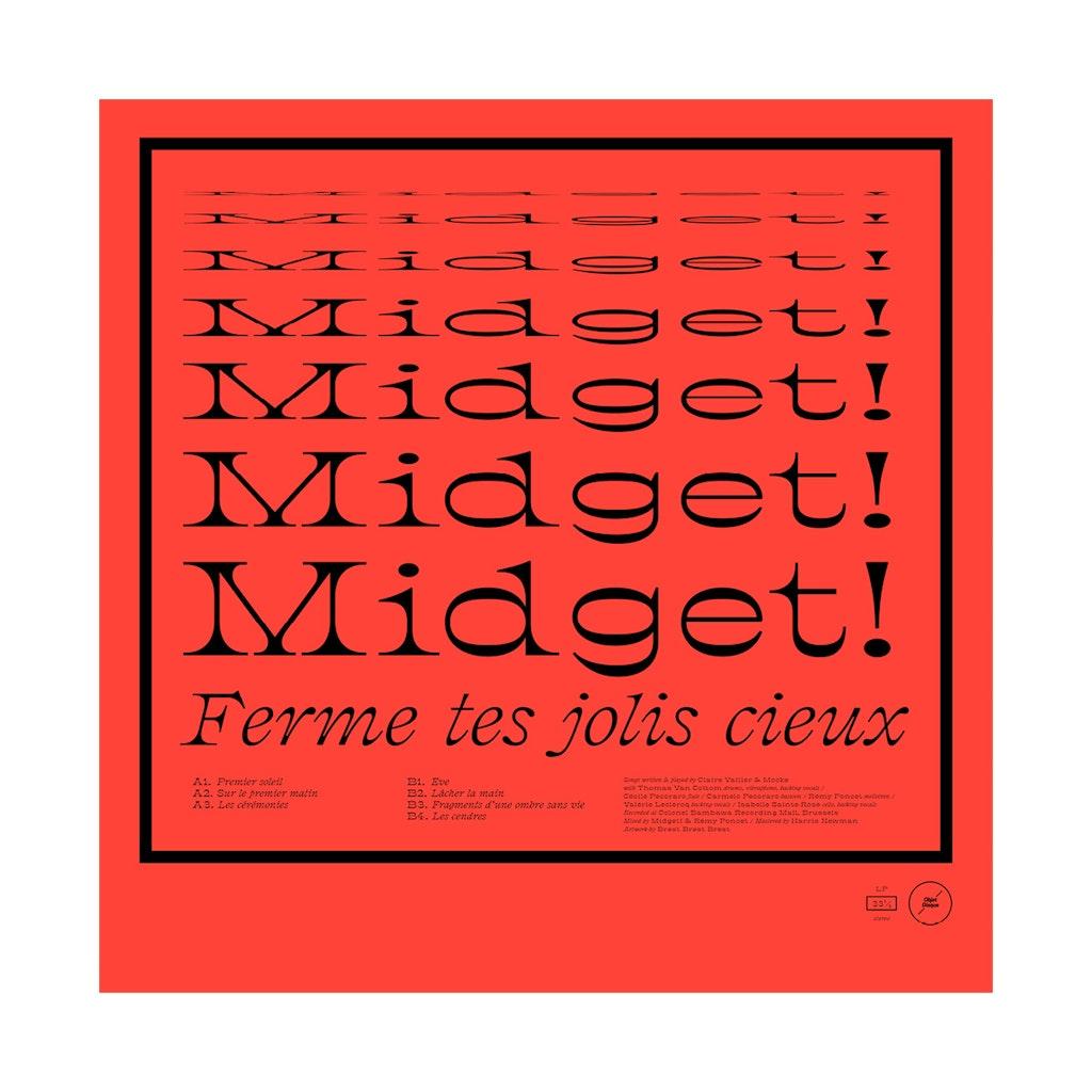 """Midget! """"Ferme tes jolis cieux"""" (Objet Disque)"""