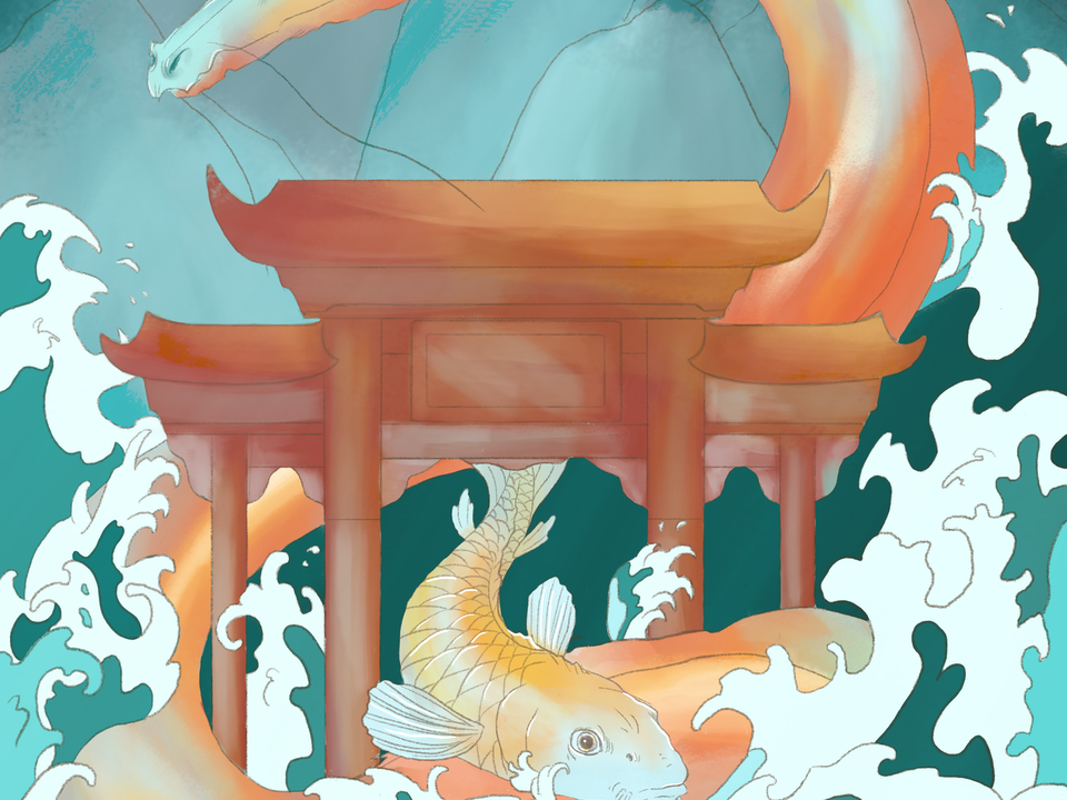 "Illustration - ""Through the Dragon's Gate"" 2019. Digital. Unbreakable Anthology."