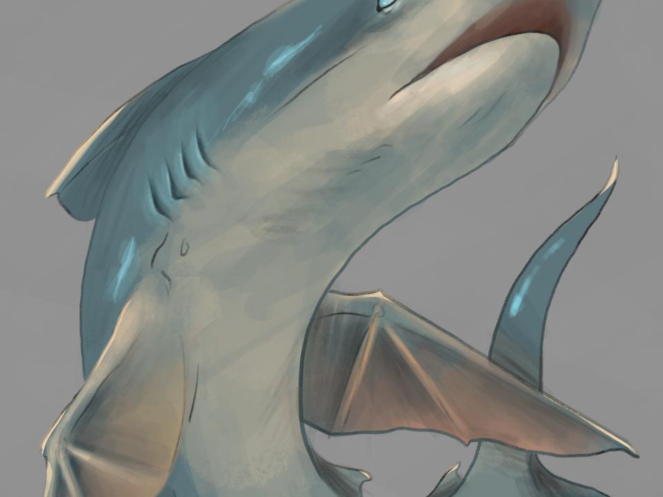 "Illustration - ""Tiburones"" 2020. Digital. The Islands of Sina Una."