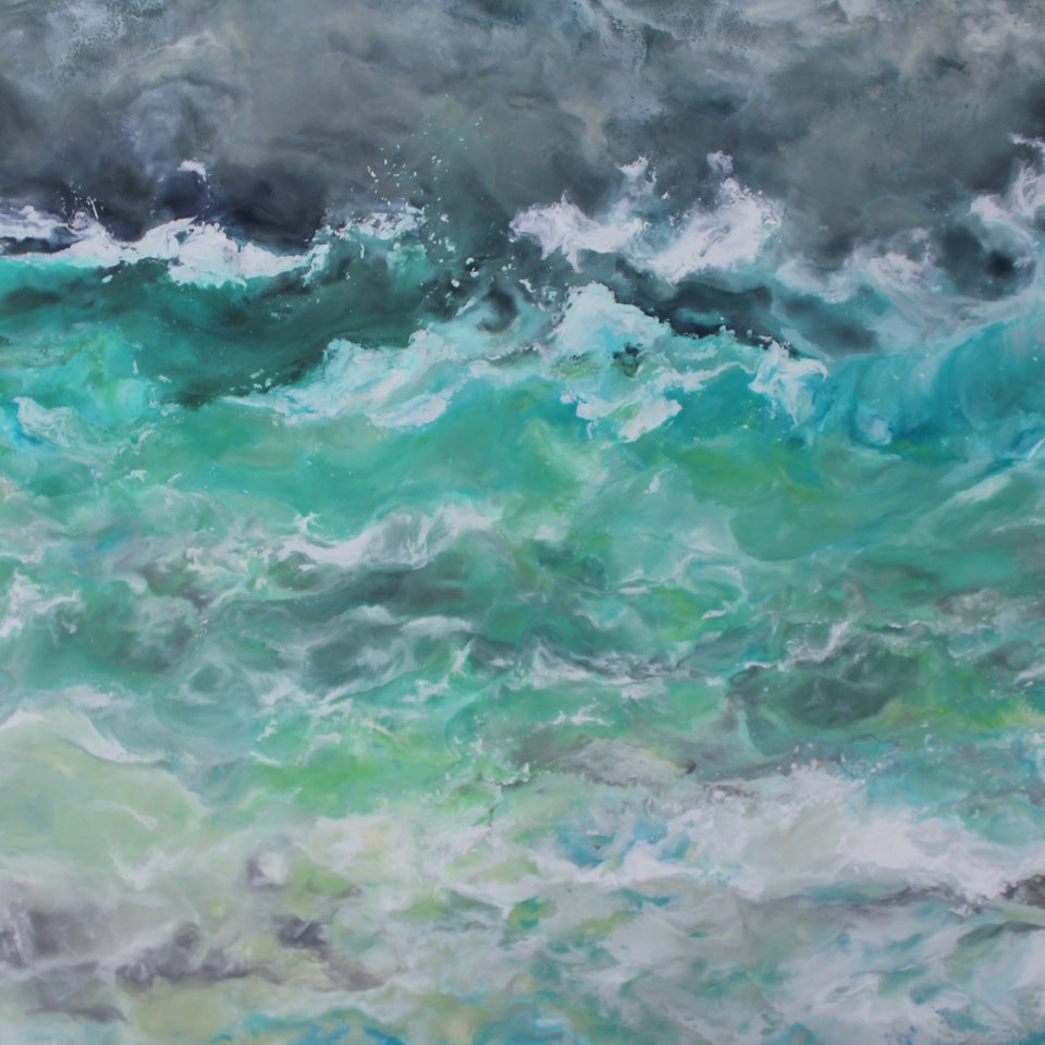 On Canvas Ruth Hamill, Weathered (But Not Beaten), 36x54, encaustic on canvas, $6300