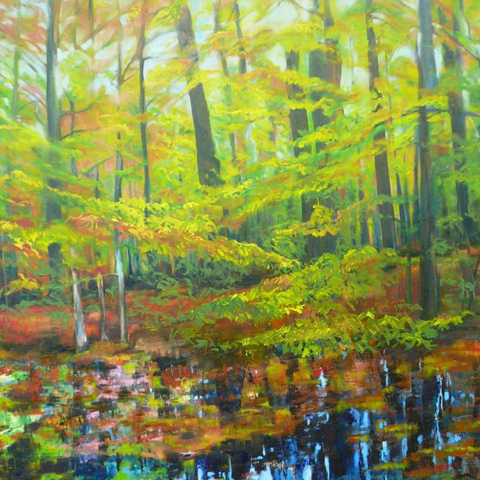 Archive In the Forest, at Pond's Edge I, 30x40 oil on canvas