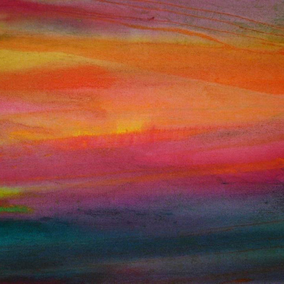 2006-2008 Sunset Unlike Any Other, 30x30, oil on raw canvas