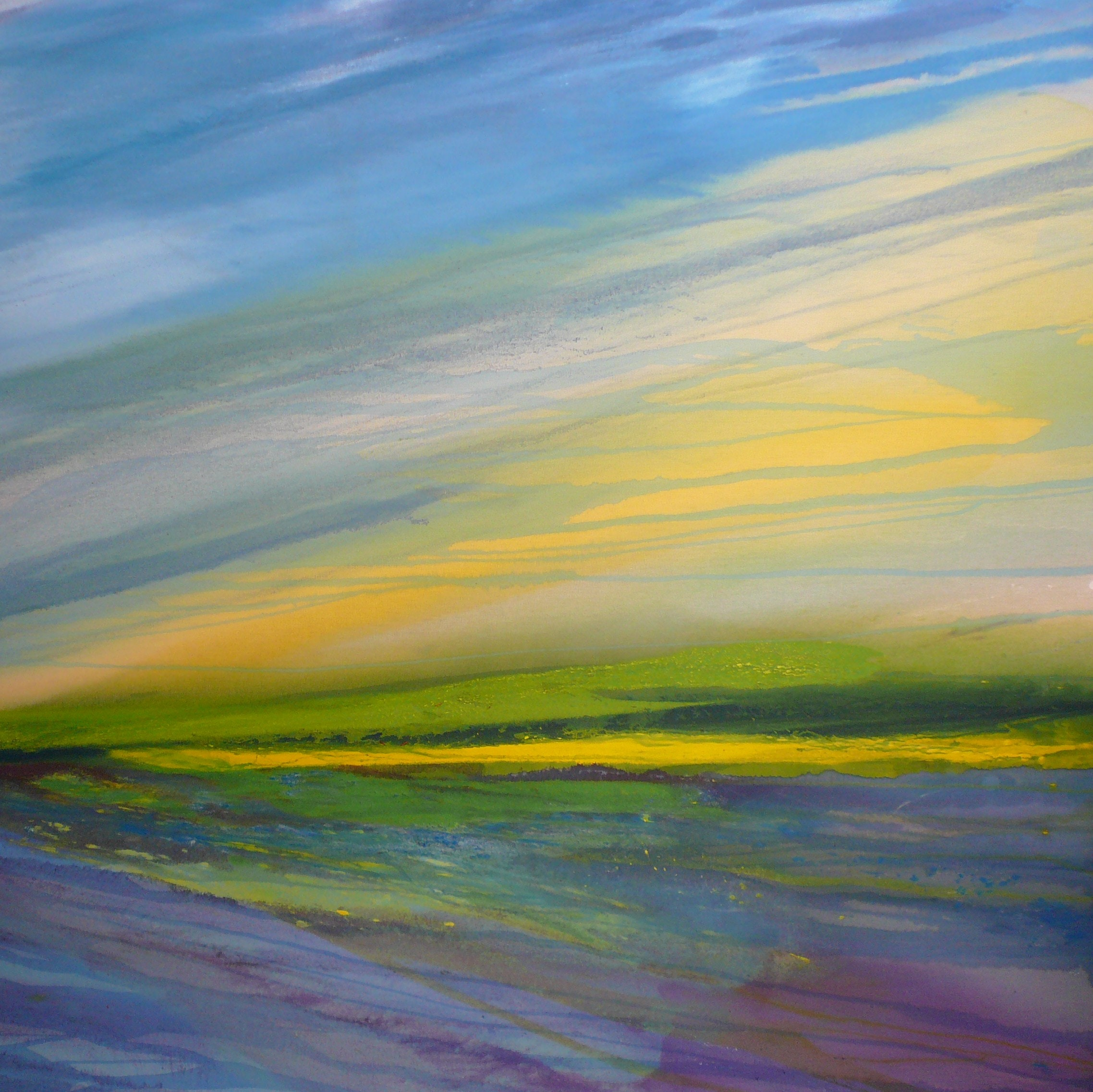 Ruth Hamill - 1. Hamill, Ocean Breeze, November 2008, oil on raw canvas (Horizon series)