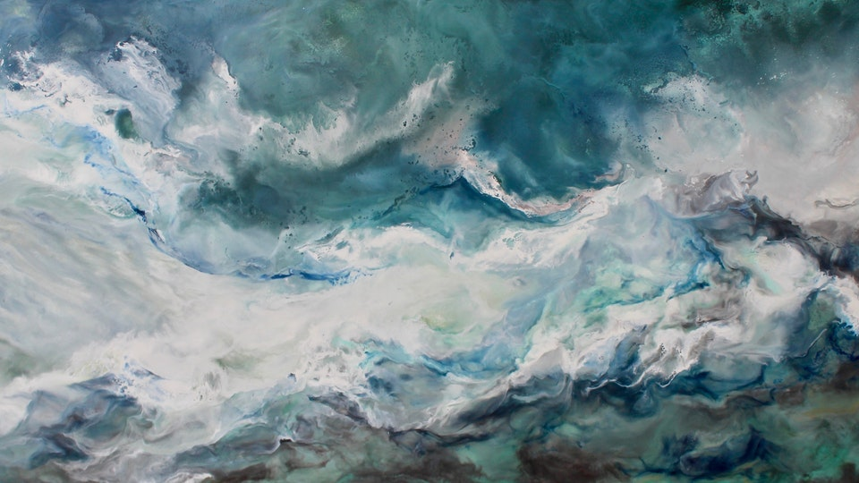 Ruth Hamill - Encaustic on Canvas