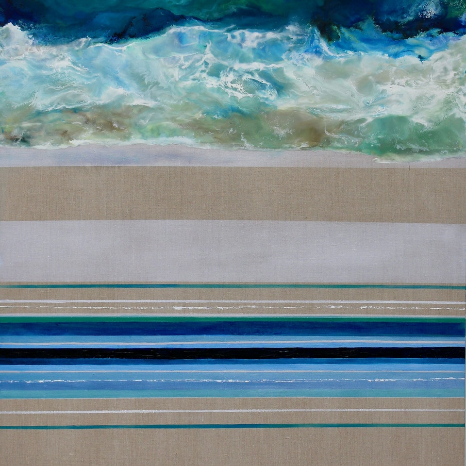 On Canvas Hope, Ruth Hamill, 66x36, encaustic and oil on linen, $7400