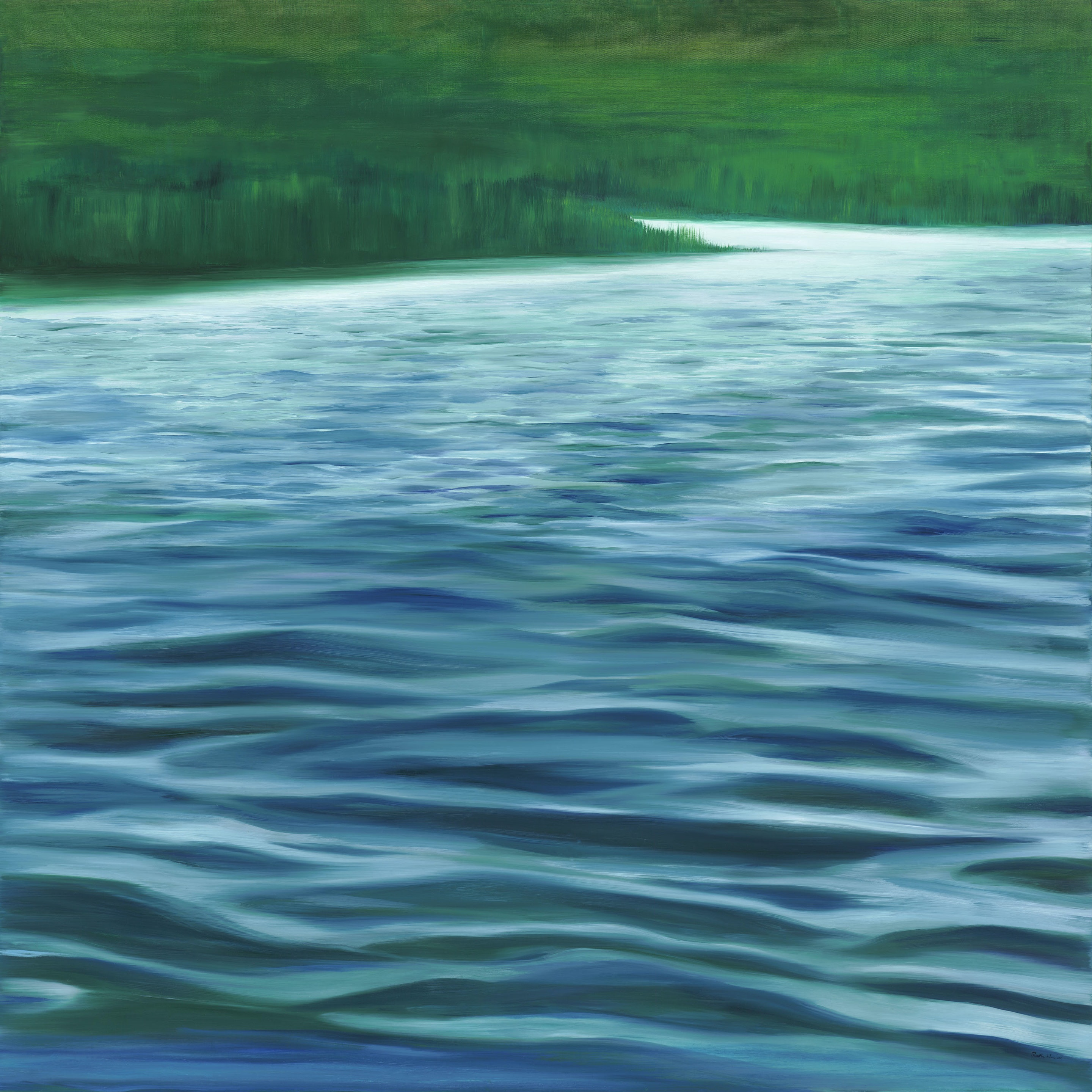 Ruth Hamill - Essex River, 48x48, oil on canvas