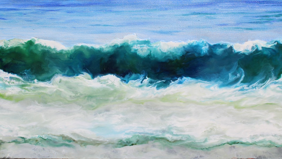 Ruth Hamill - Encaustic and Oil on Linen