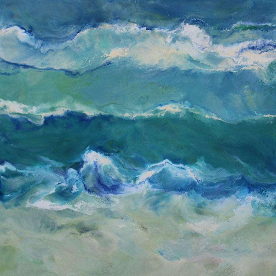 On Canvas Drift, 42x24, encaustic on canvas, $4200, 300 dpi