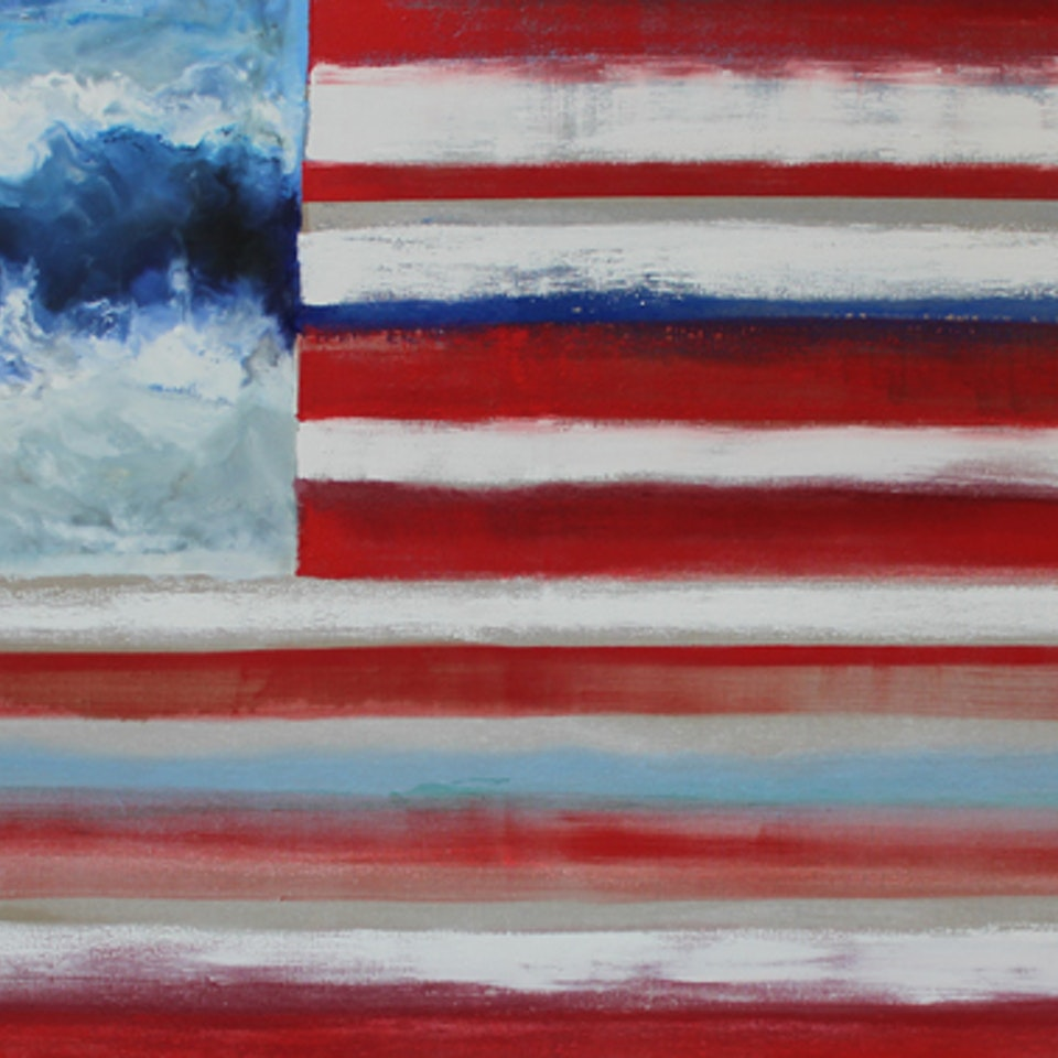 Oil and Encaustic on Linen Sea to Shining Sea II, 44x84, encaustic and oil on linen