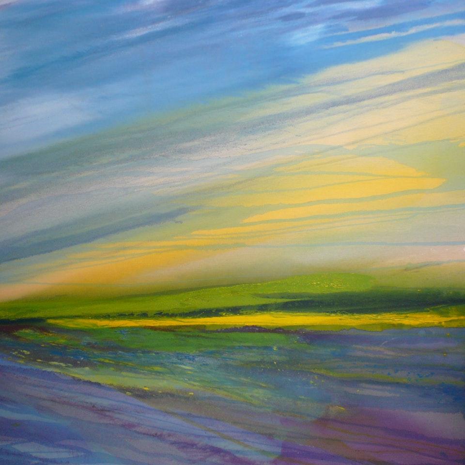 2006-2008 1. Hamill, Ocean Breeze, November 2008, oil on raw canvas (Horizon series)