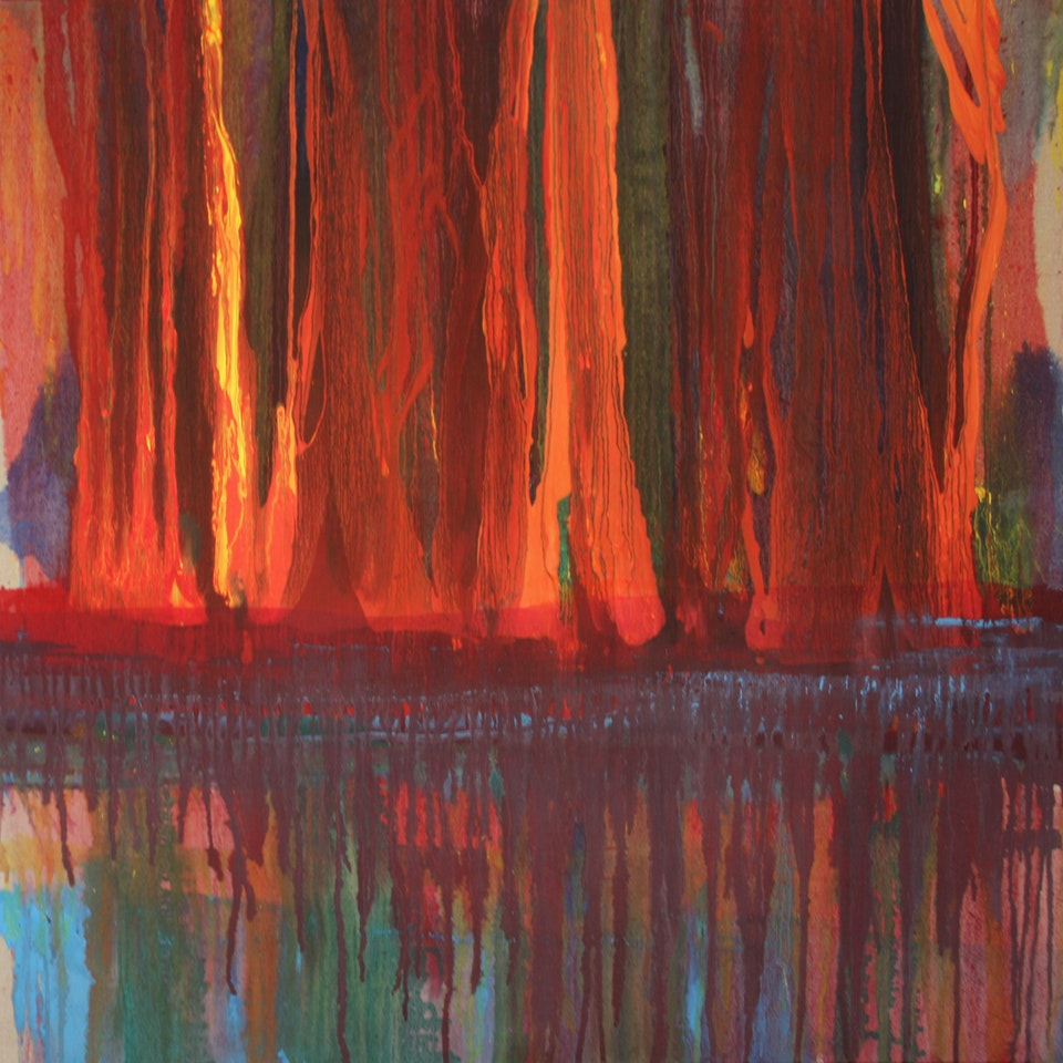 2009-2011 Fall Reflect, 36x36, oil on linen