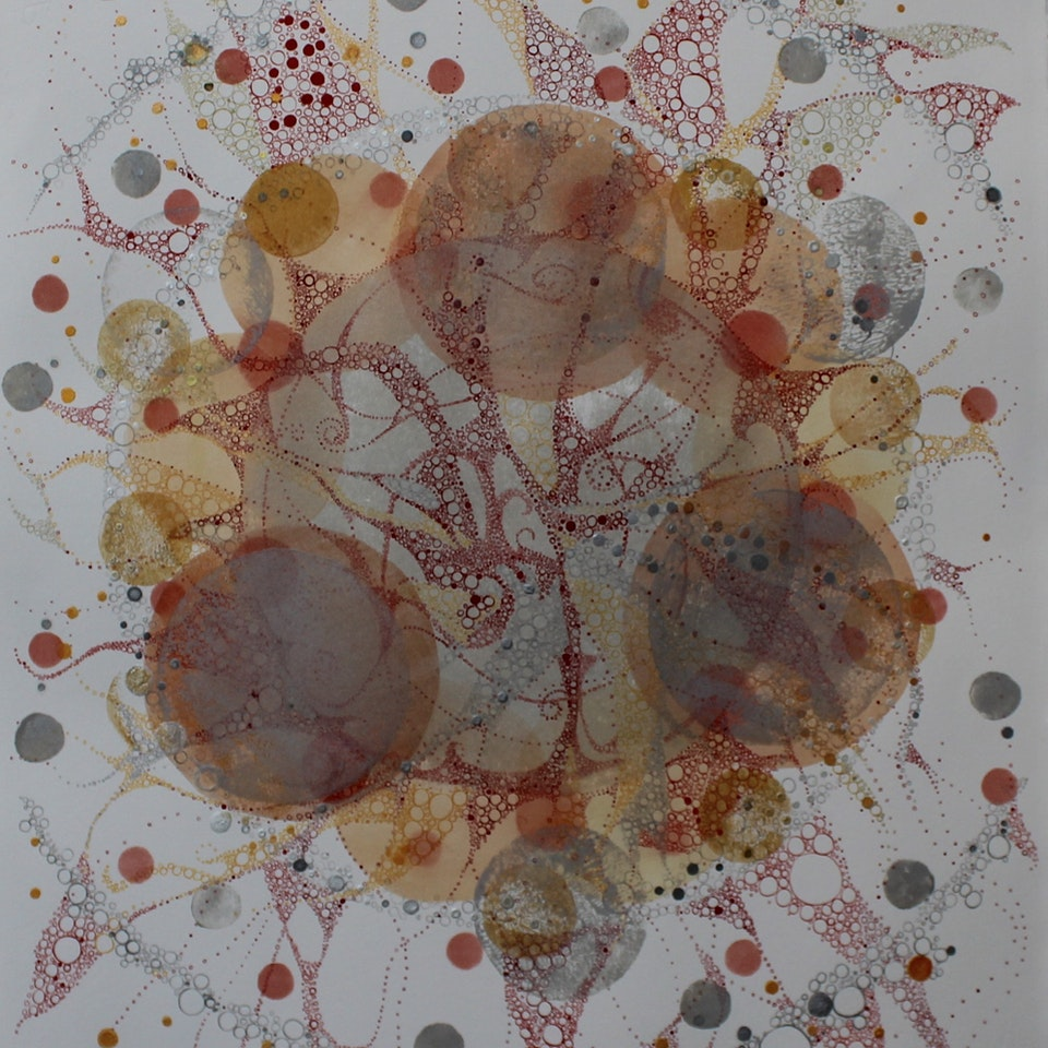 Various Inks on Paper Ruth Hamill, 2016, Nourishing, intaglio, calligraphy and relief-printing inks, gouache and watercolor on paper (29)