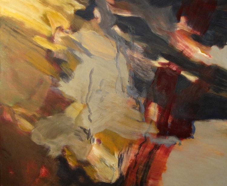 Dykk - Dykk Dette er ferdigstillt på mitt atelier i Hakadal, men påbegynt i Ny-Ålesund. Format 115 x 140 cm.