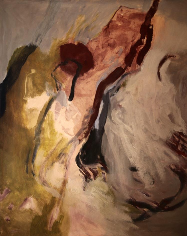 forste - Første Maleri malt i februar 2014 i Ny-Ålesund. 140 x 115 cm. Solgt.