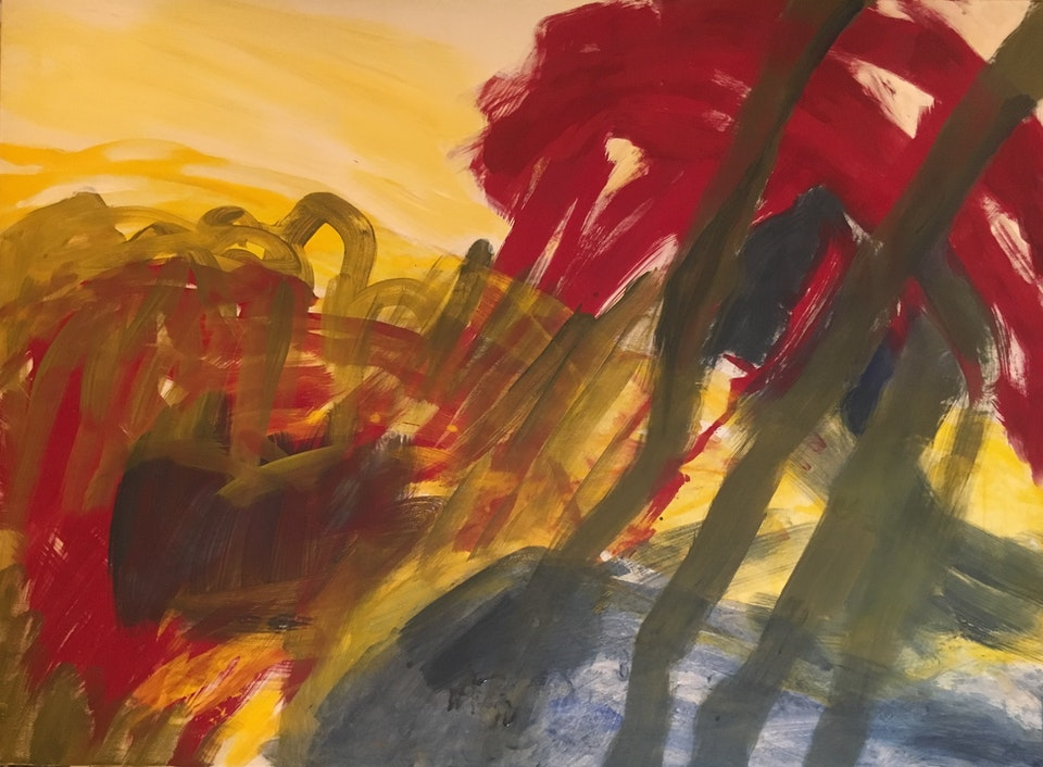 Maleri 2 - 97 x 130 cm. Malt i Tivoli 2018