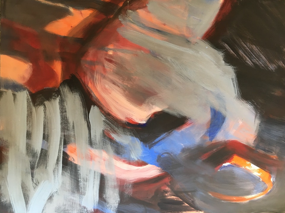 Ære - Ære. Denne finnes i to ulike format: 97 x 130 og 195 x 255 cm Malt i Tivoli , Italia 2018