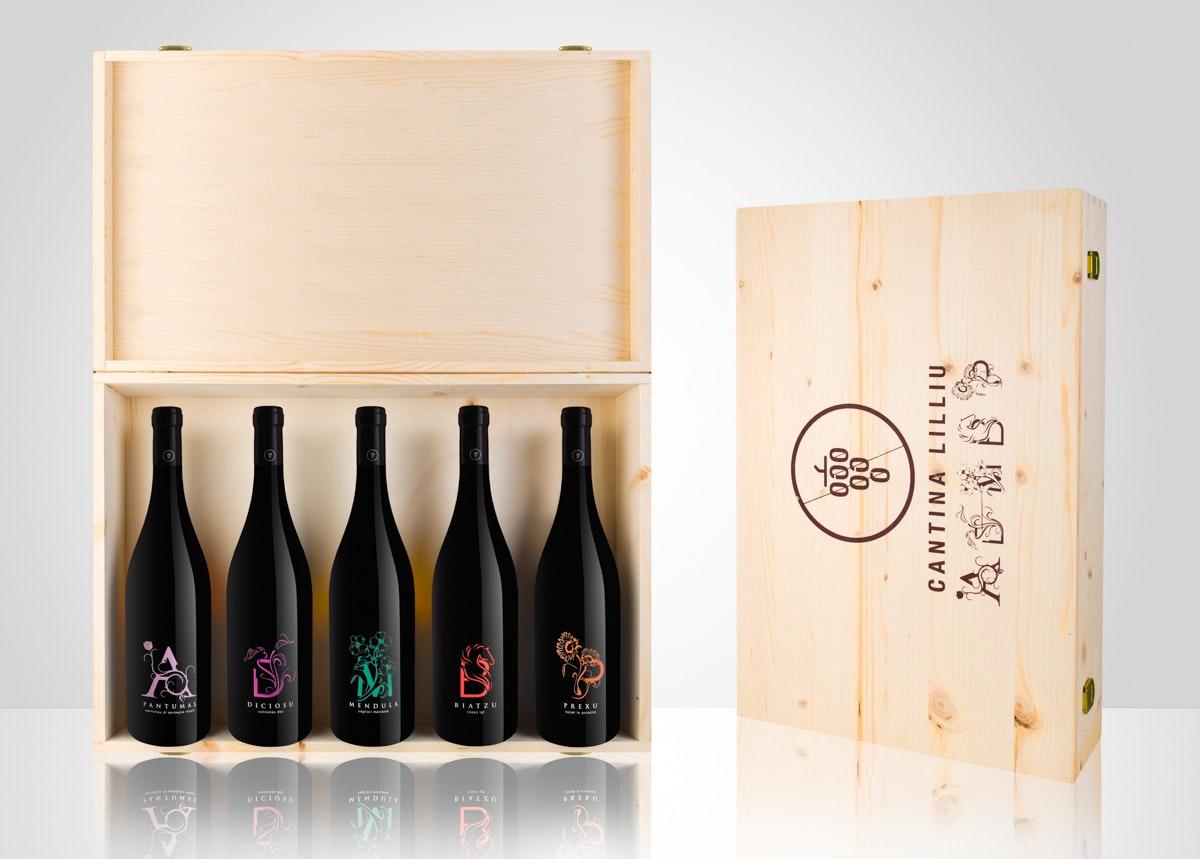 valerio loi fotografia prodotti still life cagliari sardegna vini cantina lilliu box regalo