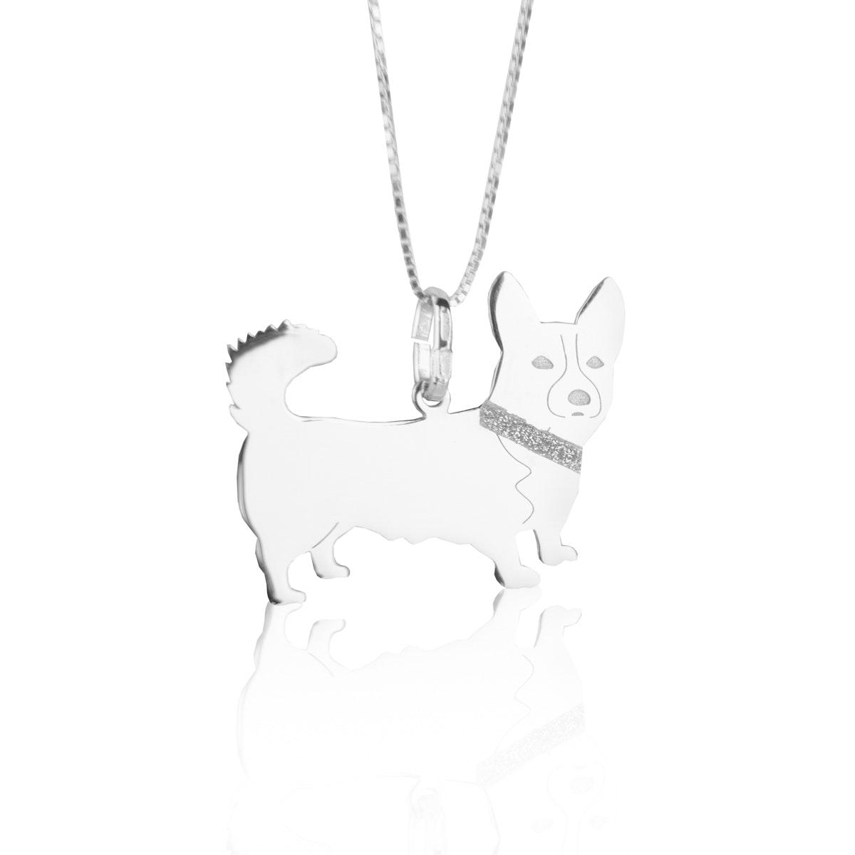 corgi gioiello pendente collana cane fotografo argento sardegna cagliari