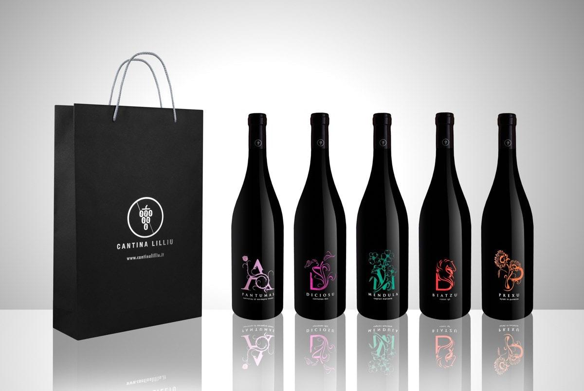 cantina lilliu gift bag vino bevande fotografo prodotti cagliari sardegna valerio loi