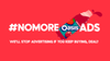#NoMoreOasisAds - <b>NO MORE OASIS ADS</b>  We know young people don't like ads, so this year we launched a deal.  We'll stop advertising as long as you help us reach our sales target.   How did we launch the deal? Through the medium of advertising of course.