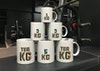 TEA KG - <b>TEA KG</b>      Too much working, not enough working out? TEA KG are a set of weighted tea mugs which help build those guns while you're building spreadsheets. TEA KG mugs come in various weights, so you can get ripped with every sip.  <i>Currently in production</i>