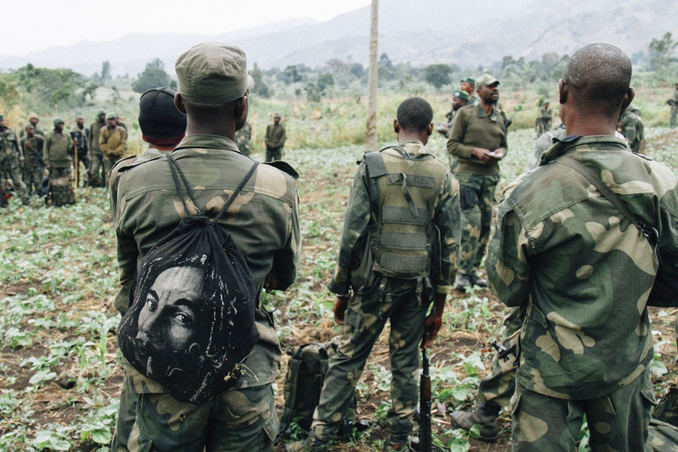 North Kivu | Democratic Republic of Congo - FARDC soldiers about to enter a FDLR controlled area in Virunga National Park.