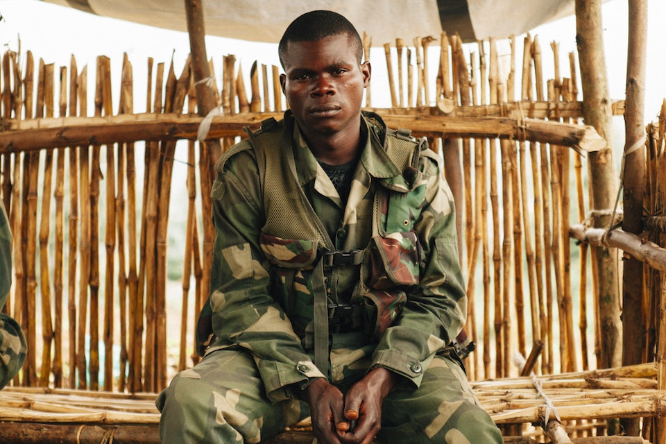 North Kivu | Democratic Republic of Congo - A FARDC soldier the day after he survived an attack from Mai Mai Niatura rebels in Masisi where 14 of his comerades were killed.
