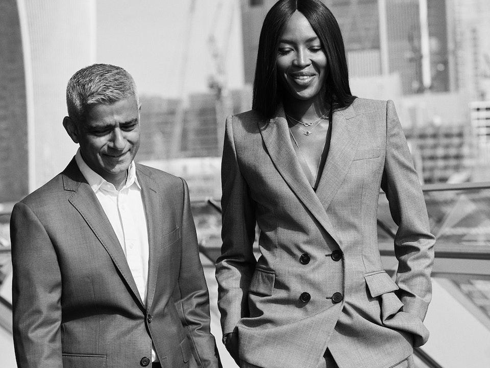 Sadiq Khan & Naomi Campbell - Vogue - David Burton