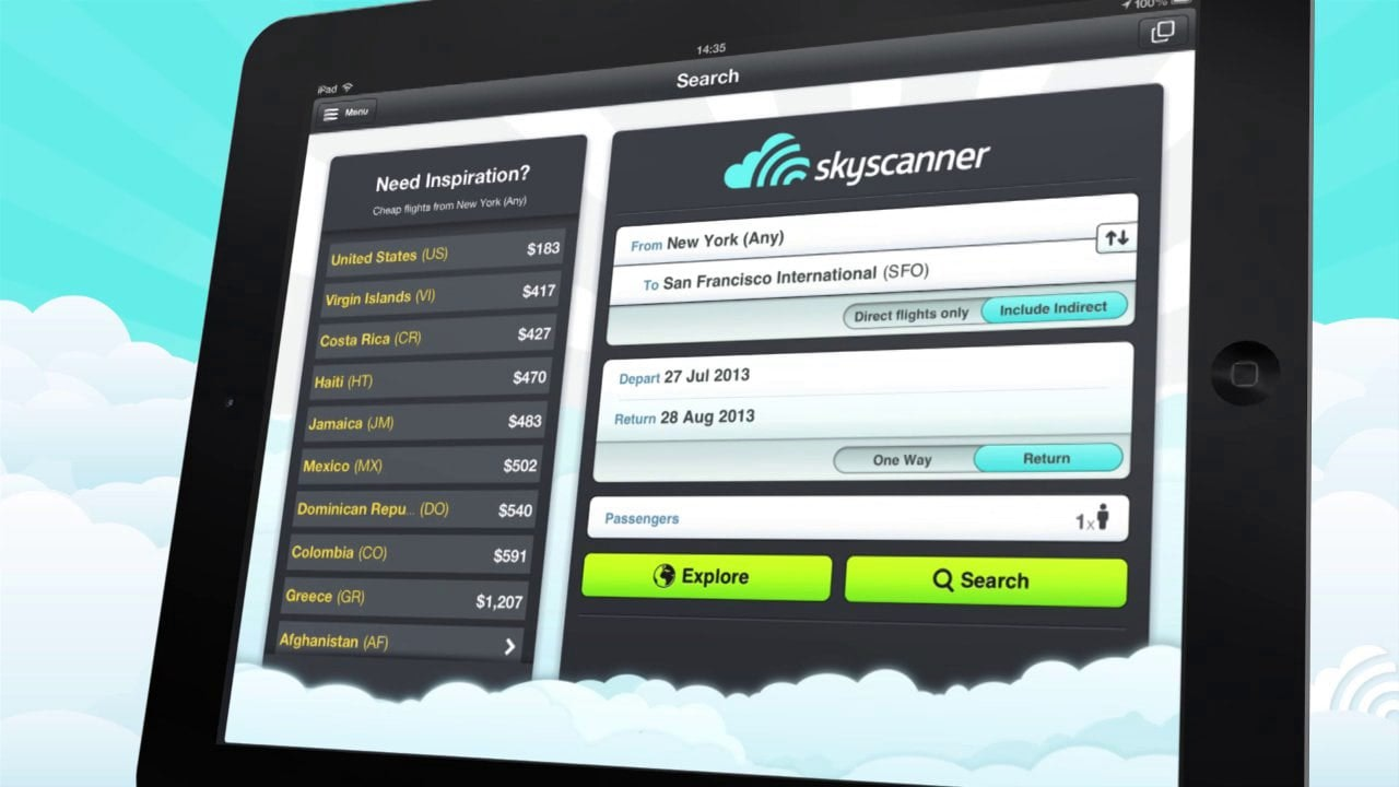 Skyscanner iPad/iPhone App