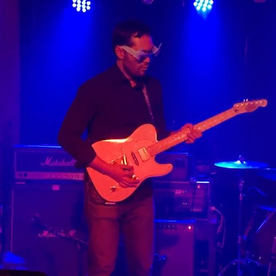 Personal Projects and Demos - Live moment from our last show at Arlene's Grocery where my temples were hurting from my heavy novelty sunglasses!  #guitarist #telecaster #blues #solosection #guitarstagram #juicytones #fender
