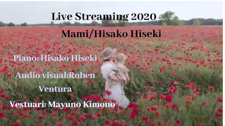 【 Piano y Luz】 Piano: Hisako Hiseki  Audiovisual: Ruben Camacho   Vestuari: Mayuno Kimono