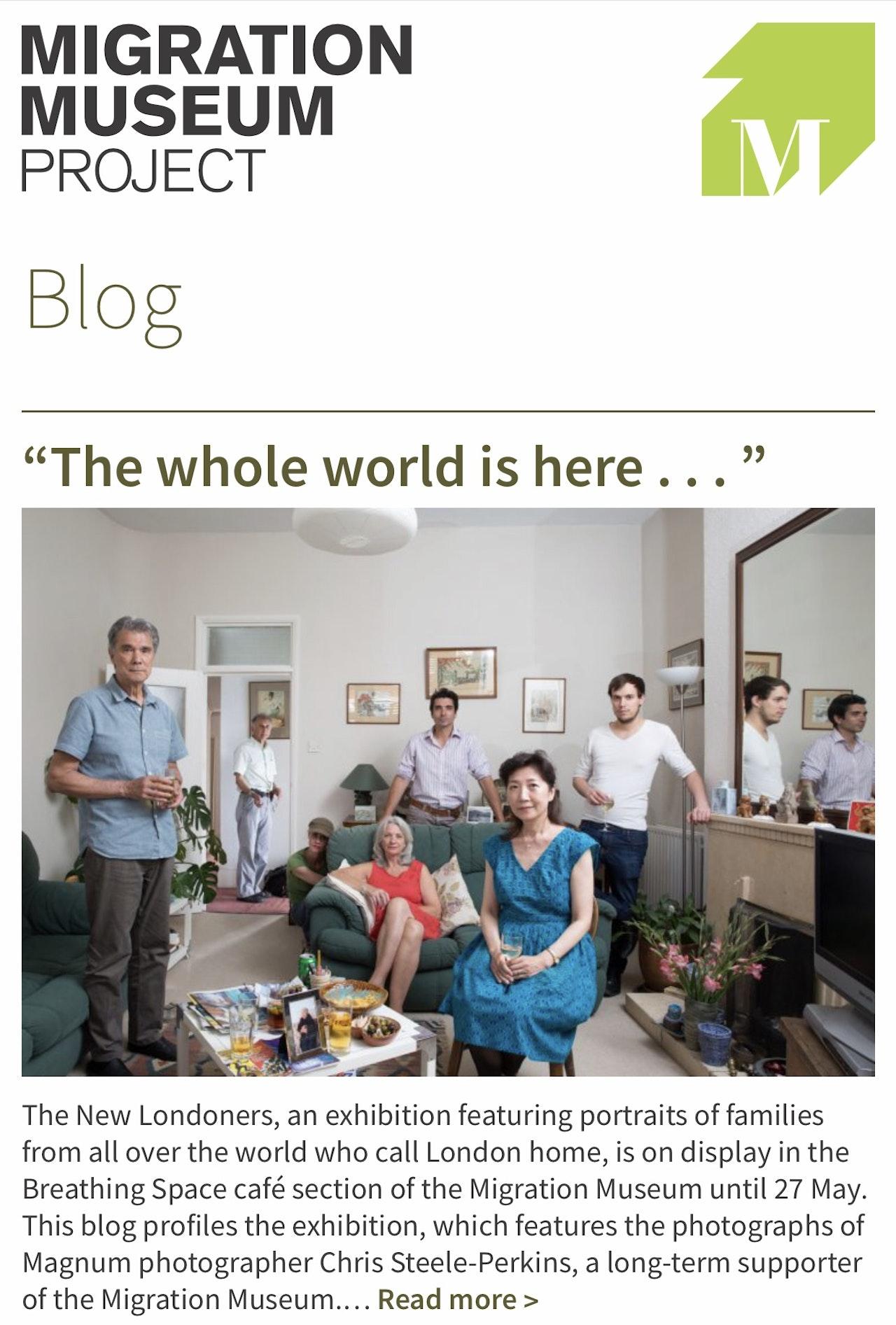 Migration Museum Blog
